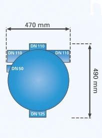 Volumenfilter VF1 Maße Durchmesser