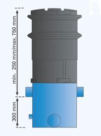 Volumenfilter VF1 Maße Höhe