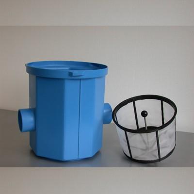 Einfacher Regenwasserfilter mit Schmutzfangkorb fuer den ...