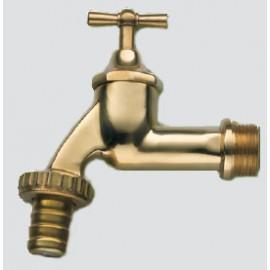 3P Wasserhahn Messing-poliert 3/4 Zoll
