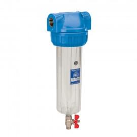 10 ' Filtergehäuse mit Überdruckventil