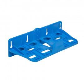 Kunststoff Doppelmontagerahmen blau