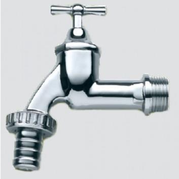 3P Wasserhahn verchromt 3/4 Zoll