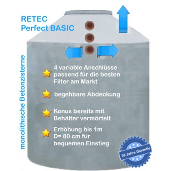 Betonzisterne Typ Perfect BASIC 8.000 L