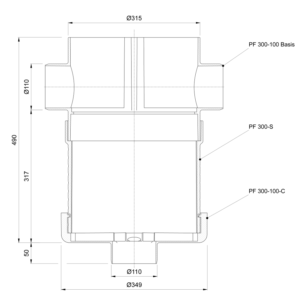 plurafit sinkkasten strasseneinbauschacht. Black Bedroom Furniture Sets. Home Design Ideas